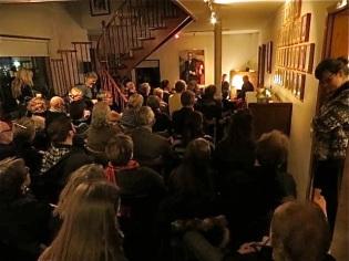 Höfundakvöld í Gunnarshúsi 30. október, 2014: fullt út úr dyrum.